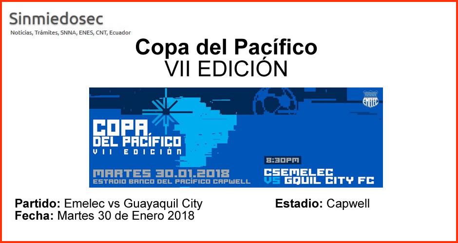 Emelec vs Guayaquil City - Martes 30 de Enero 2018
