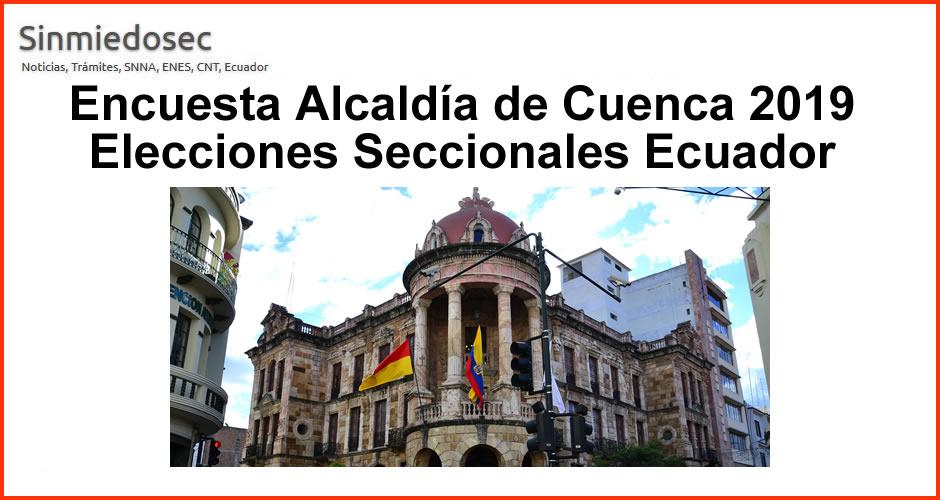 Participa: Encuesta Alcaldía de Cuenca - Elecciones 2019